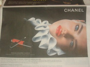 Chanel Lip Gloss Advertisement